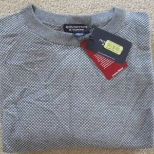 Cotton/Cashmere Dk Gray/Gray Heather P/O Sweater